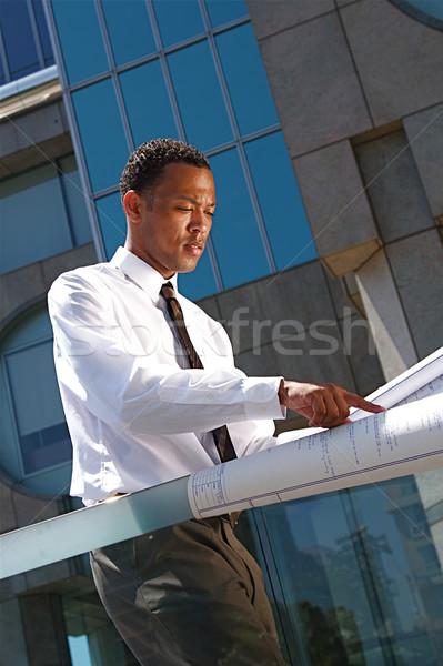 Exitoso jóvenes arquitecto urbanas profesional hombre Foto stock © cmcderm1