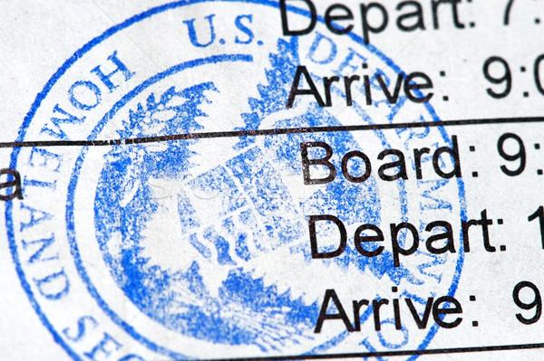 Boarding Pass Stock photo © cmcderm1
