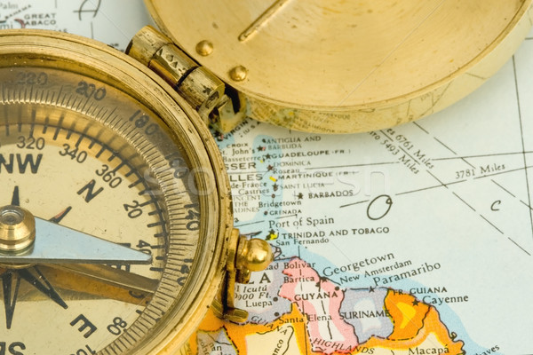 Map and Compass Stock photo © cmcderm1