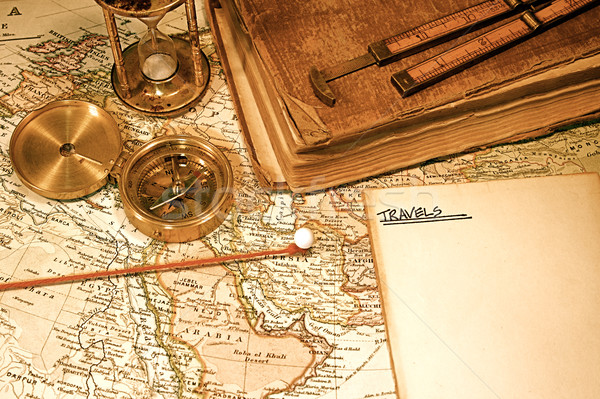 Vintage Map and Chart Stock photo © cmcderm1