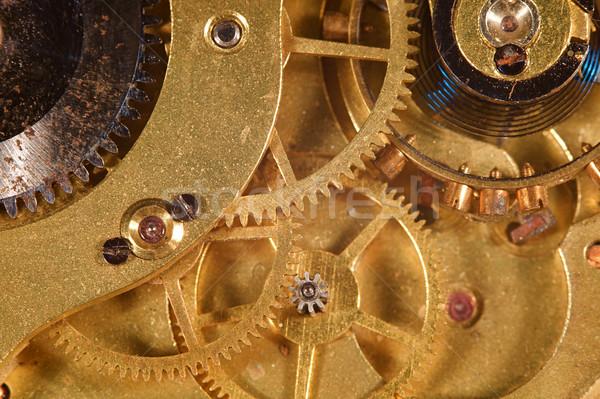 Horloge versnellingen zakhorloge tanden Stockfoto © cmcderm1