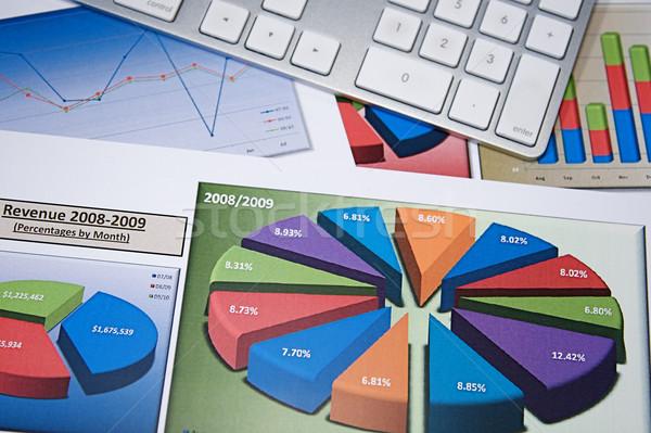 Photo stock: Affaires · graphiques · stratégie · d'entreprise · graphiques · design · clavier
