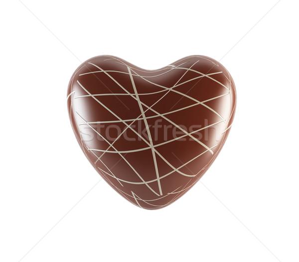 チョコレート 中心 3D レンダリング 医療 キャンドル ストックフォト © cnapsys