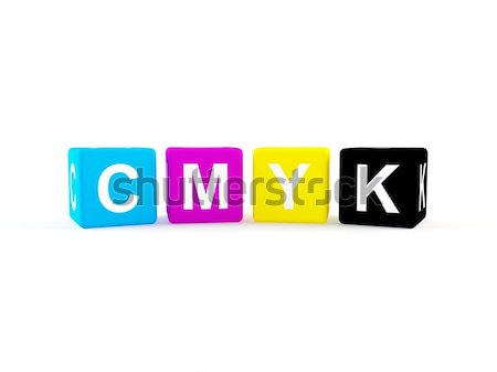 CMYK icon Stock photo © cnapsys