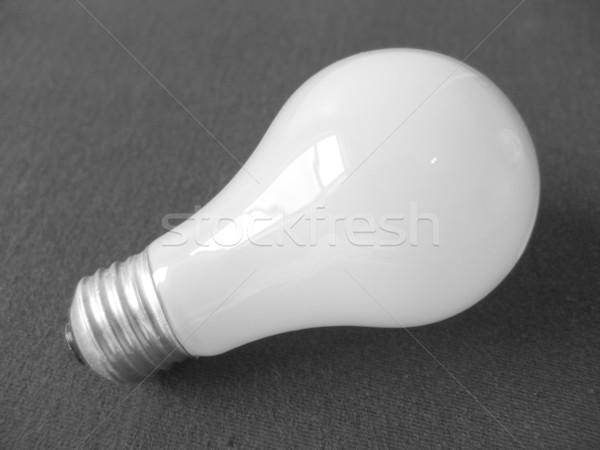 電球 暗い 光 ランプ 白 電気 ストックフォト © cnapsys