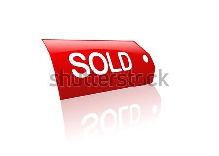 Vendido membro vermelho ilustração compras nota Foto stock © cnapsys
