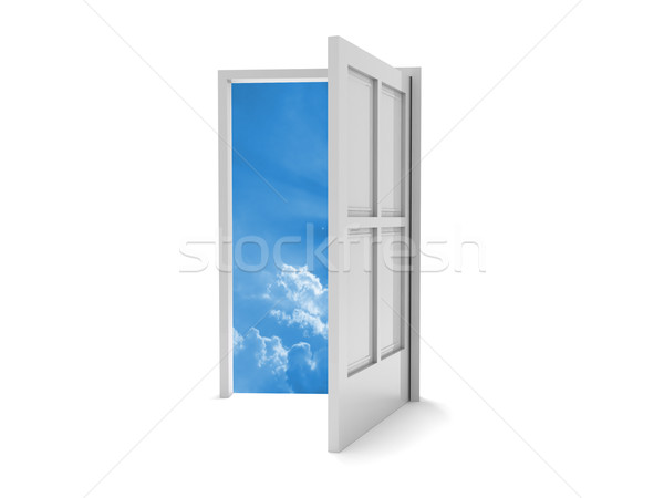 戸口 天国 3D レンダリング オープンドア 青空 ストックフォト © cnapsys
