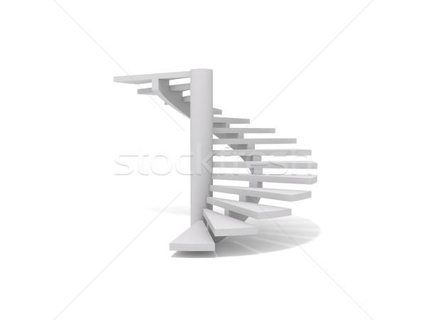 3D branco etapa interior Foto stock © cnapsys