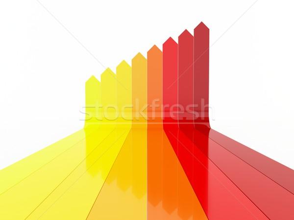 Colorido gradiente flechas 3D establecer Foto stock © cnapsys