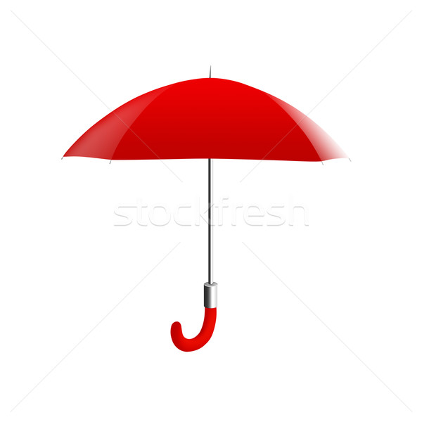 赤 傘 実例 孤立した 白 雨 ストックフォト © cnapsys