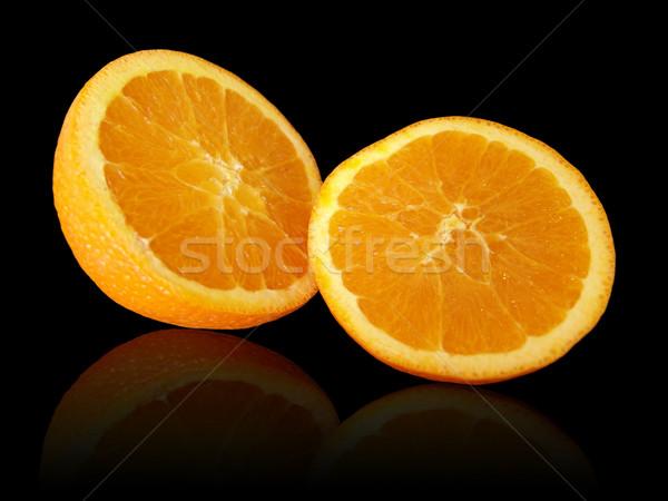 オレンジ 黒 反射 フルーツ 熱帯 ストックフォト © cnapsys