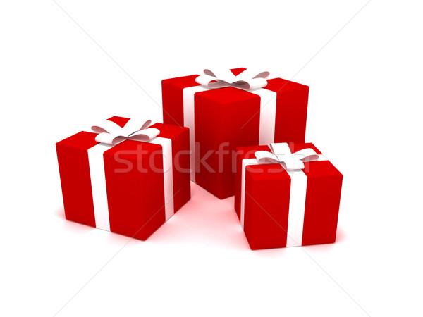クリスマス プレゼント 3D レンダリング 愛 リボン ストックフォト © cnapsys