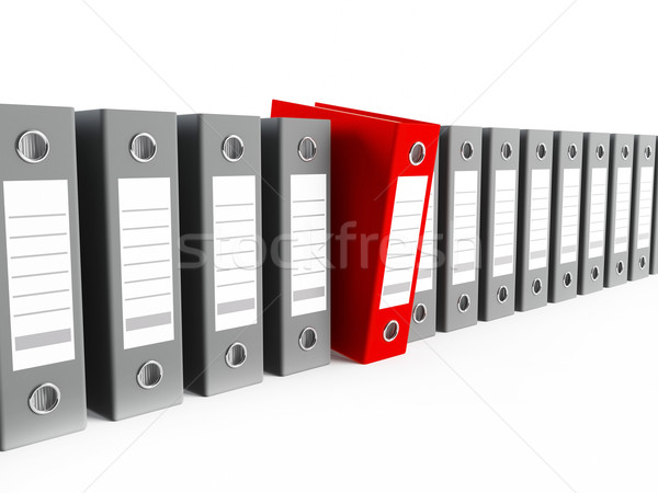 3D bureau une rouge Photo stock © cnapsys