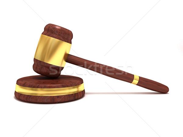 小槌 3D レンダリング 木製 正義 弁護士 ストックフォト © cnapsys