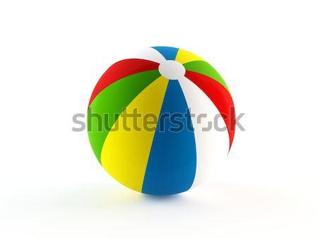 ビーチボール 3D レンダリング スポーツ 夏 青 ストックフォト © cnapsys