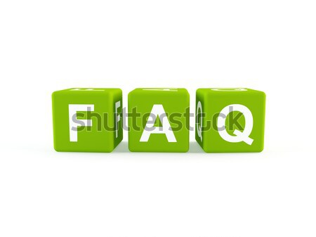 Faq icon 3D abstract wereld Stockfoto © cnapsys