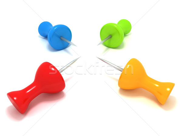 Office push pins Stock photo © cnapsys