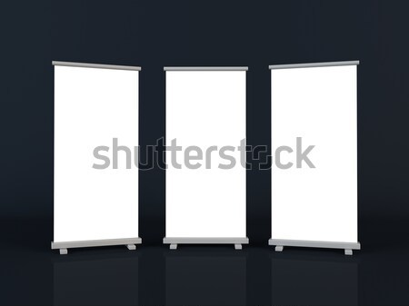 Roll up banners Stock photo © cnapsys