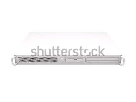 Cremalheira servidor 3D computador tecnologia Foto stock © cnapsys