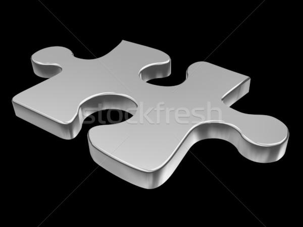 Bilmece parça 3D soyut Stok fotoğraf © cnapsys