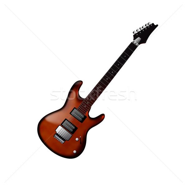 Guitarra elétrica isolado branco guitarra rocha banda Foto stock © cnapsys