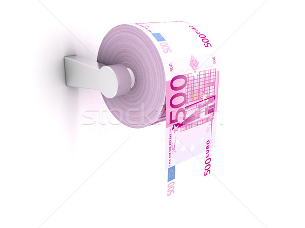 Papel higiênico rolar 3D 500 euros Foto stock © cnapsys