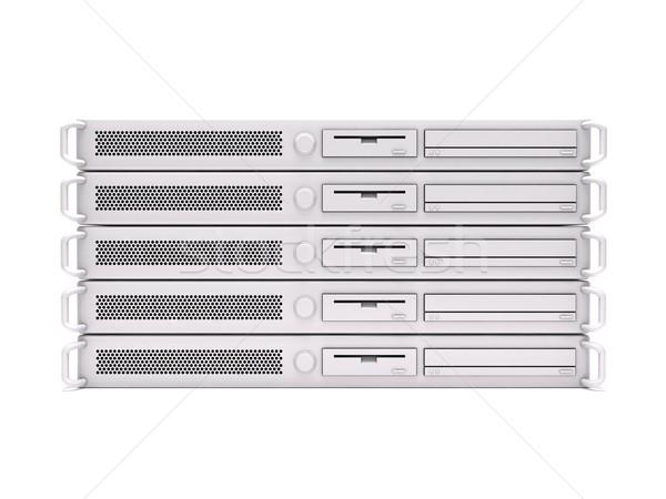 Rack servers Stock photo © cnapsys