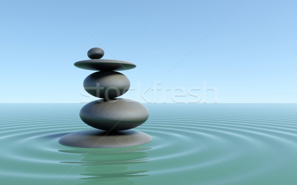 Zen stones Stock photo © cnapsys
