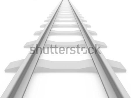 Ferrovia trem 3D vintage caminho Foto stock © cnapsys