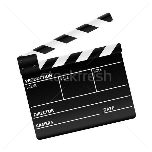 Filme conselho isolado branco vídeo cinema Foto stock © cnapsys
