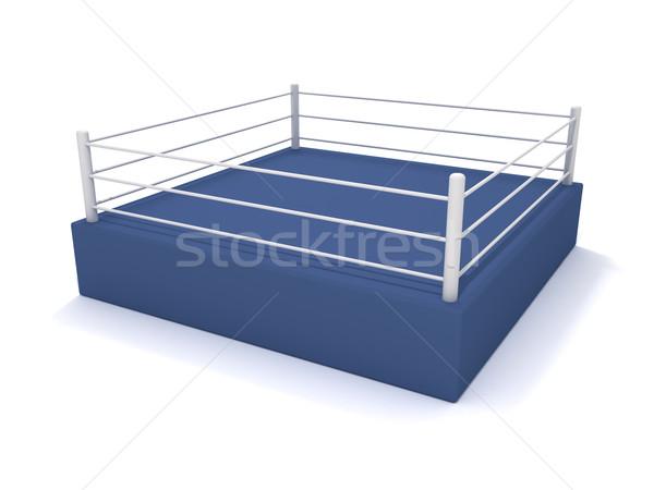 Stock fotó: Box · gyűrű · 3D · renderelt · kép · pénz · sport