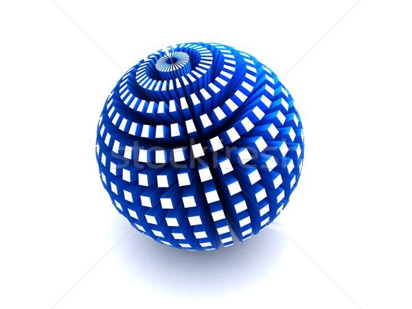 Azul esfera 3D negócio globo Foto stock © cnapsys