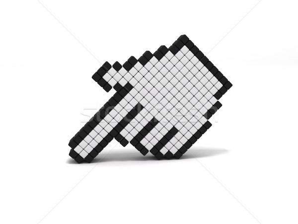 Hand cursor icon Stock photo © cnapsys