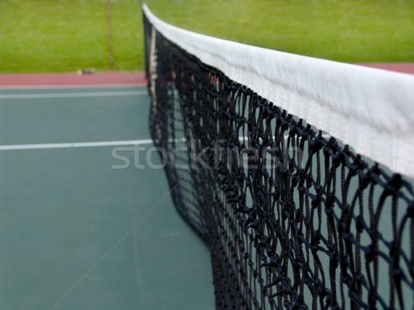テニス 純 観点 表示 フェンス ロープ ストックフォト © cnapsys