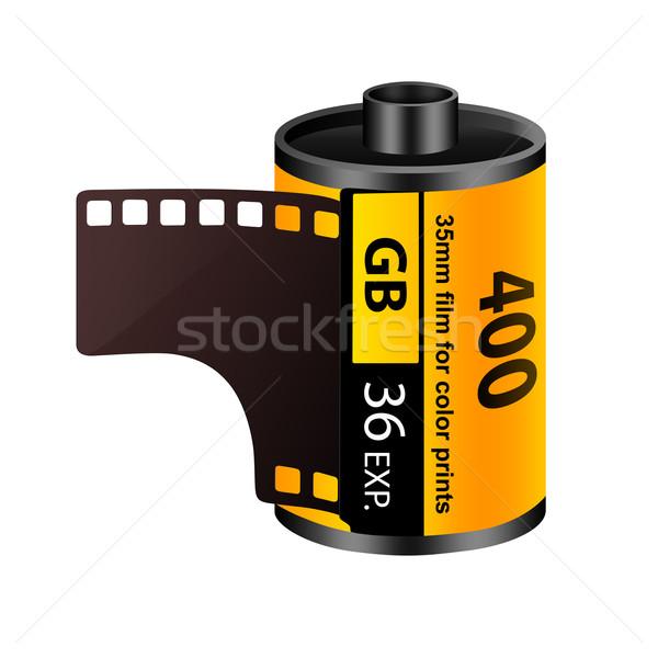 35mm film rulo yalıtılmış beyaz sanat Stok fotoğraf © cnapsys