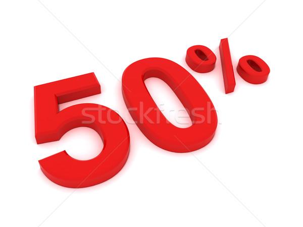 50 percent Stock photo © cnapsys
