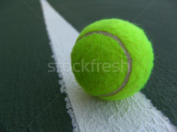 Tennisbal heldere groene lijn sport opleiding Stockfoto © cnapsys