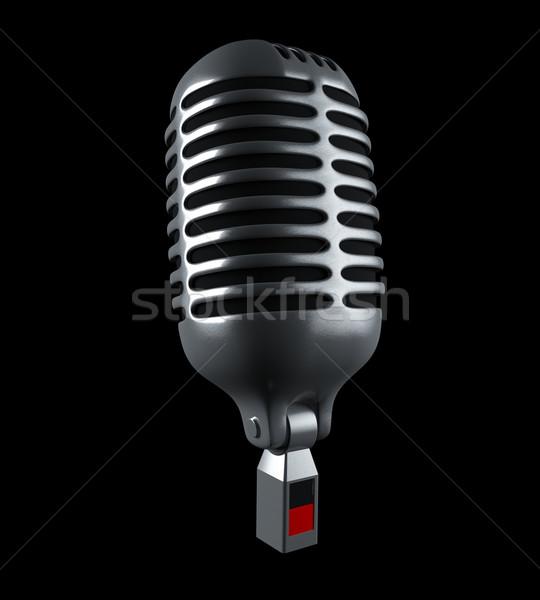 Retro microphone Stock photo © cnapsys