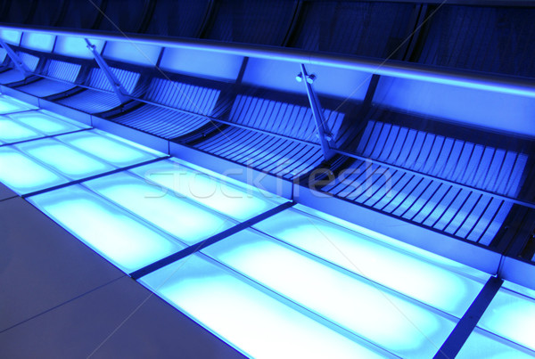 Neon korytarzu wystrój wnętrz świetle architektury stylu Zdjęcia stock © cnapsys