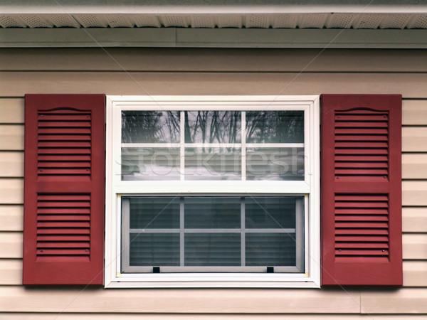 Janela foto casa vermelho Foto stock © cnapsys