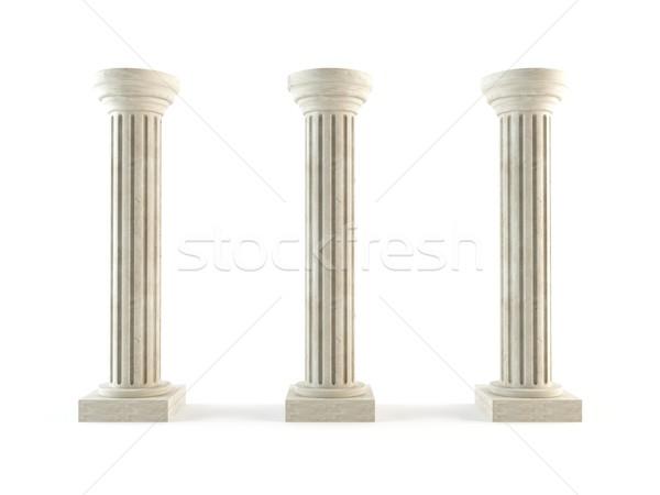 классический колонн 3D набор древних Сток-фото © cnapsys