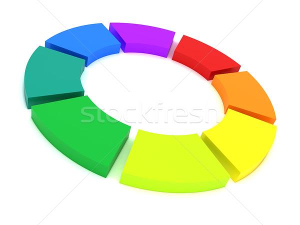 Cor roda 3D paleta abstrato Foto stock © cnapsys