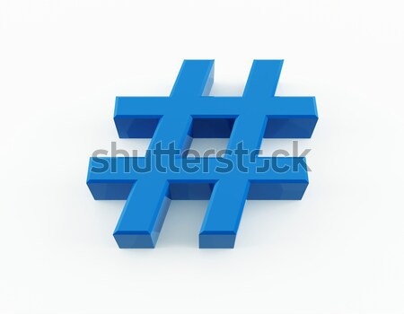 Number sign Stock photo © cnapsys