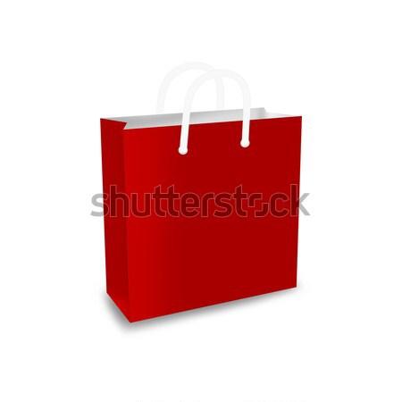 ショッピングバッグ 赤 実例 白 ショップ ストア ストックフォト © cnapsys