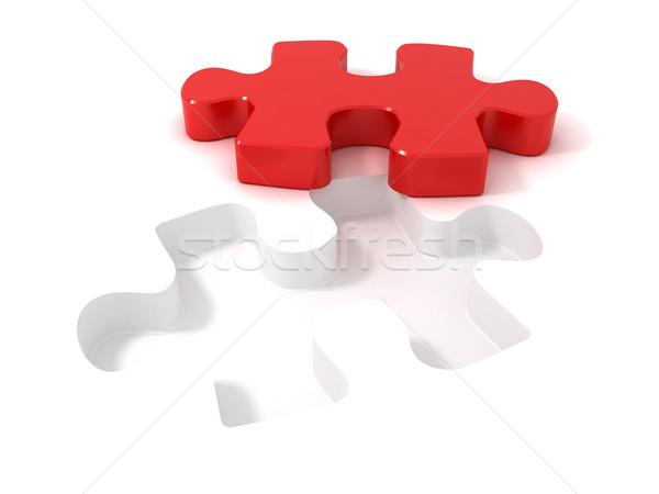 3D peça abstrato Foto stock © cnapsys