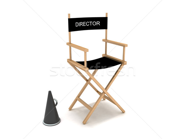 Director's chair Stock photo © cnapsys