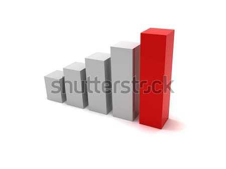 Graphique à barres 3D graphique graphique plan Photo stock © cnapsys