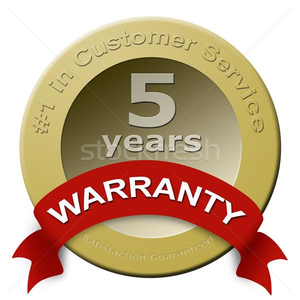 Customer service warranty seal Stock photo © cnapsys
