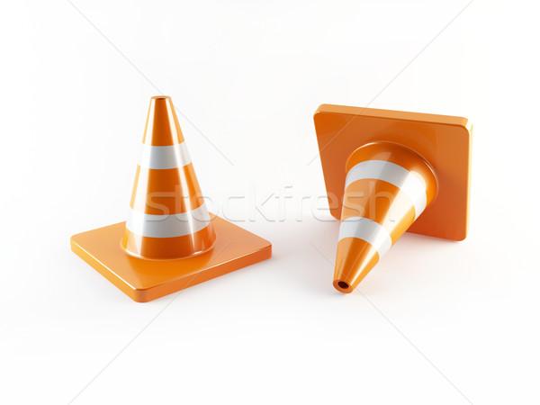 Trafik 3D çift çalışmak sokak Stok fotoğraf © cnapsys