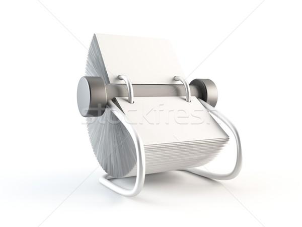 3D renderelt kép címkönyv üzlet iroda telefon Stock fotó © cnapsys